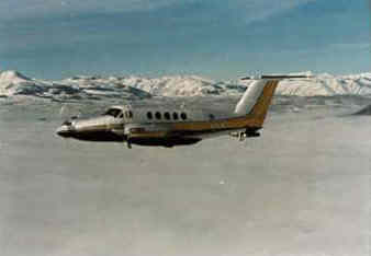 University of Wyoming Raytheon King Air atmospheric research aircraft.